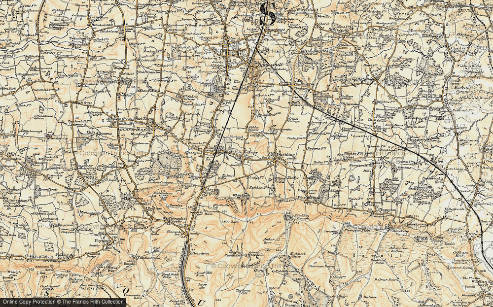 Old Map of Keymer, 1898 in 1898