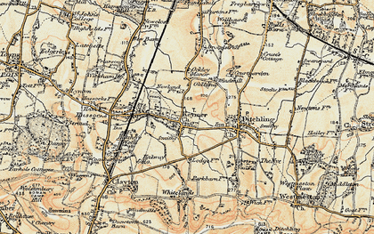 Old map of Keymer in 1898
