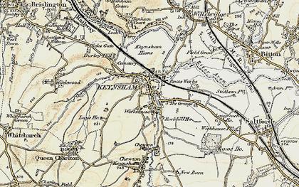 Old map of Keynsham in 1899