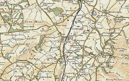 Old map of Wright Green in 1901-1904