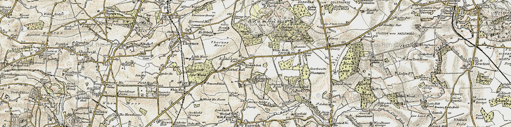 Old map of Whittle Car in 1903-1904
