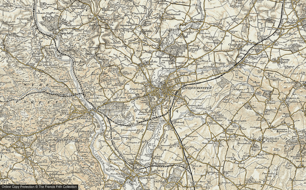 Old Maps of Kidderminster Francis Frith