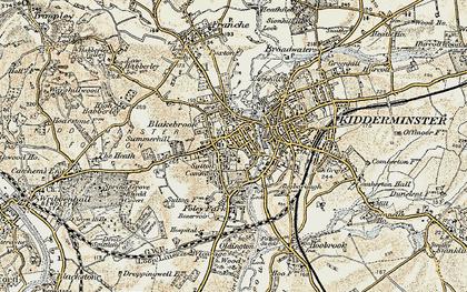 Old map of Kidderminster in 1901-1902