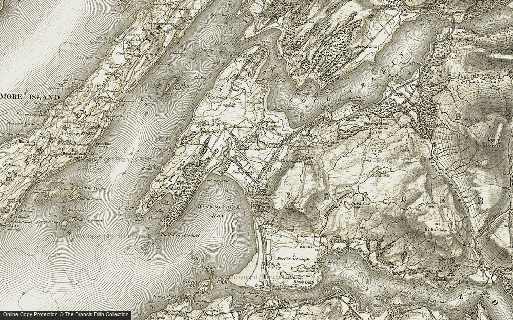 Old Map of Historic Map covering Letterwalton House in 1906-1908