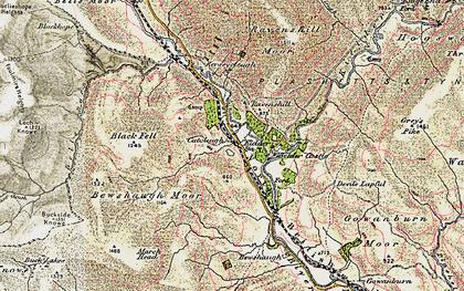 Old map of Kielder in 1901-1904