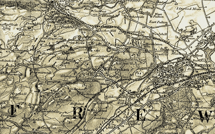 Old map of Law in 1905-1906