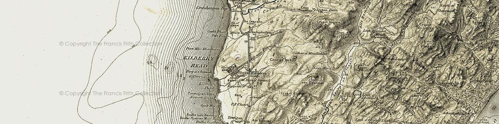 Old map of Tiretigan in 1905-1907