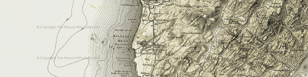 Old map of Allt Gortain Ruaidh in 1905-1907