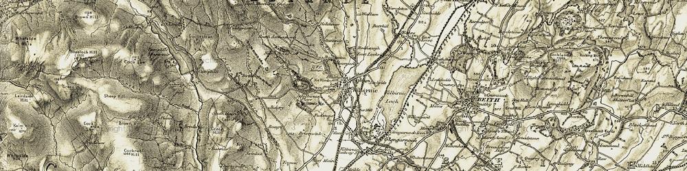 Old map of Kilbirnie in 1905-1906