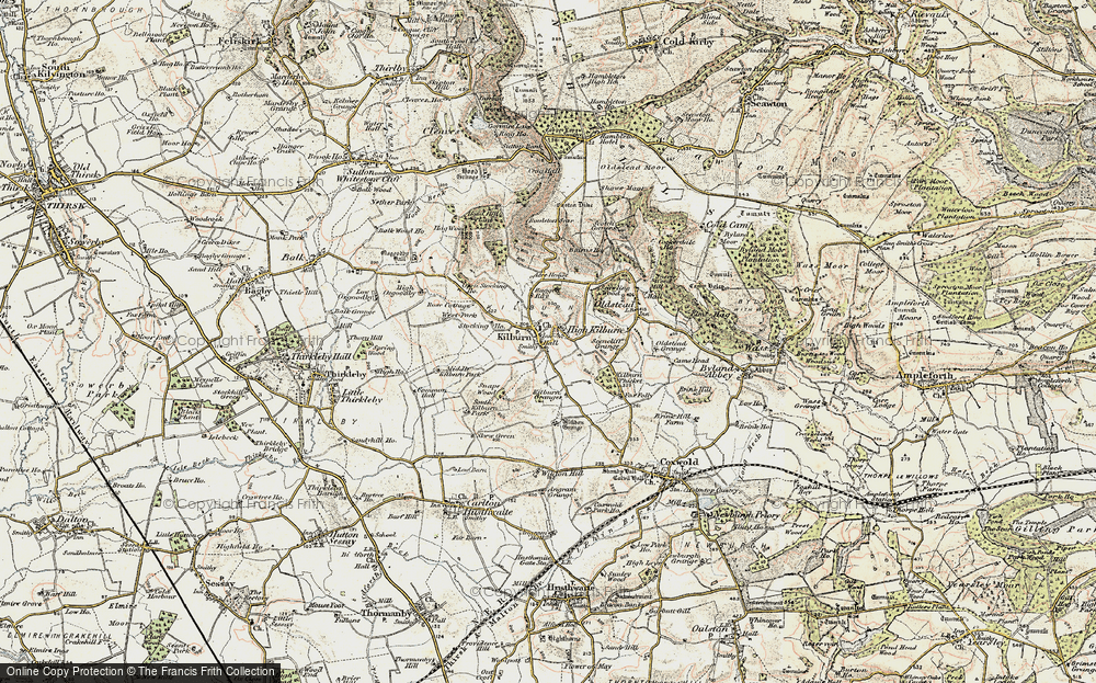 Old Map of Historic Map covering Acre Ho in 1903-1904