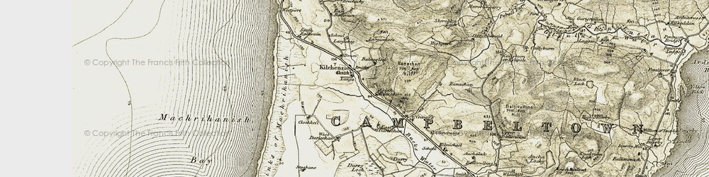 Old map of Westport in 1905