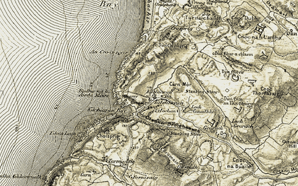 Old map of An Gleann in 1906