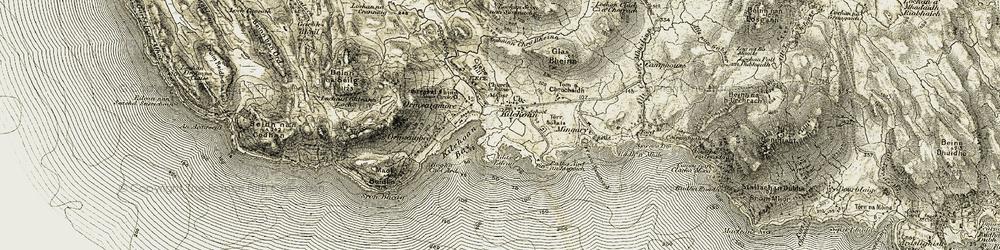 Old map of Allt Choire Mhuilinn in 1906-1908