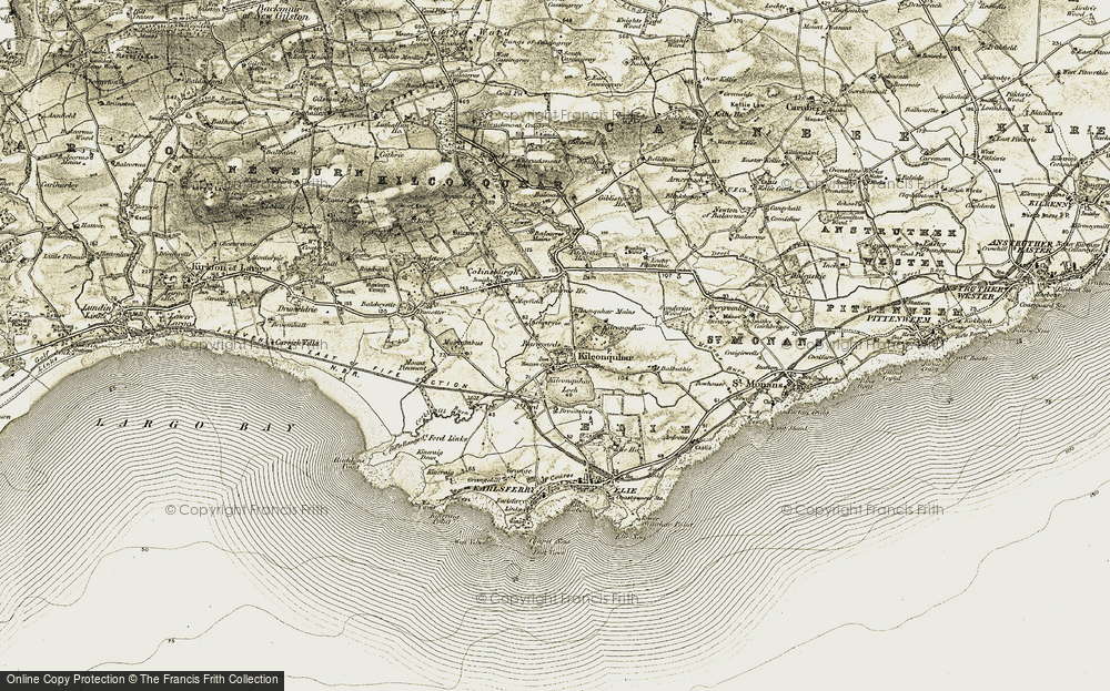 Old Map of Kilconquhar, 1903-1908 in 1903-1908