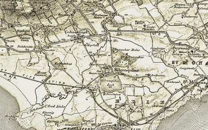 Old map of Kilconquhar in 1903-1908
