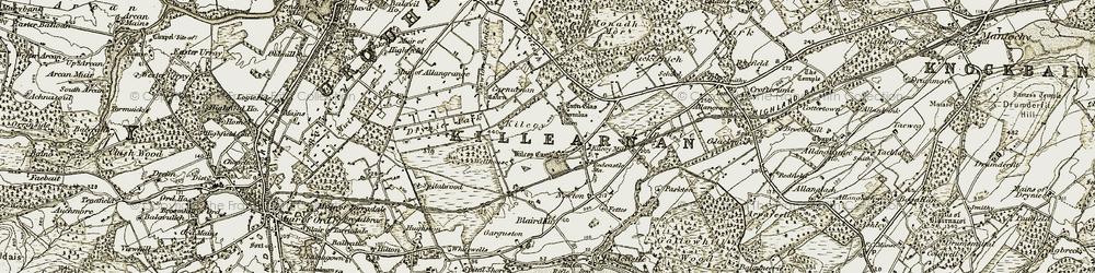 Old map of Kilcoy in 1911-1912