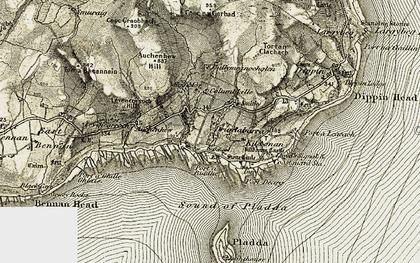 Old map of Ballymeanochglen in 1905-1906