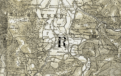 Old map of Lewishillock in 1908-1910