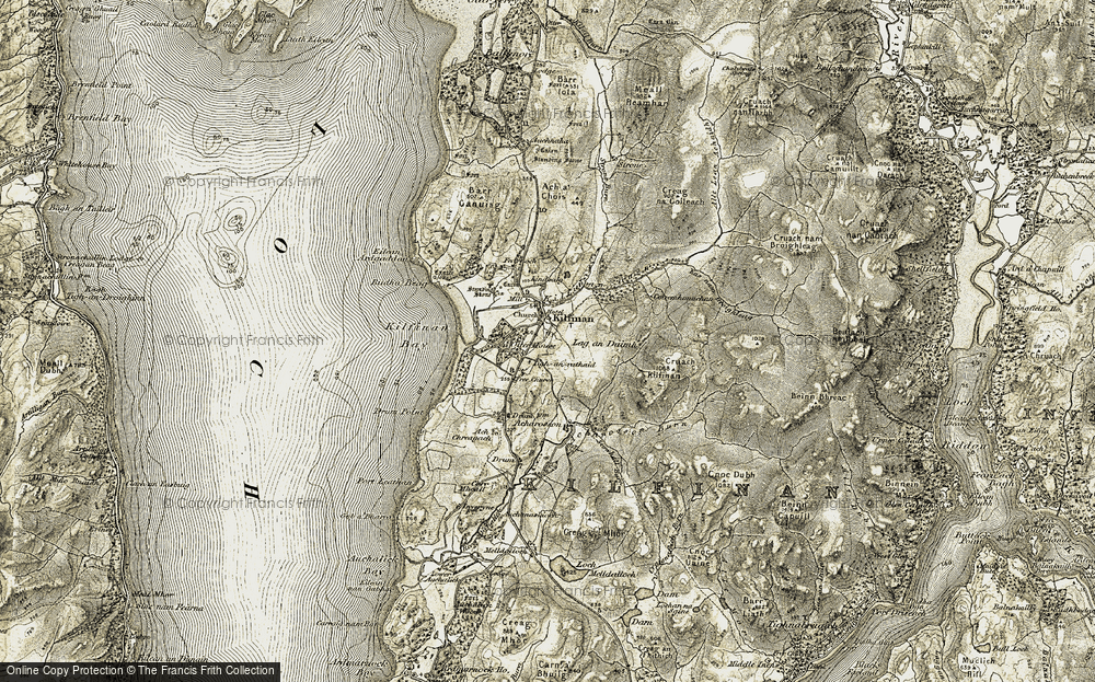 Old Map of Historic Map covering Ach Chreagach in 1905-1907