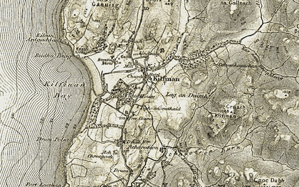 Old map of Acharossan in 1905-1907