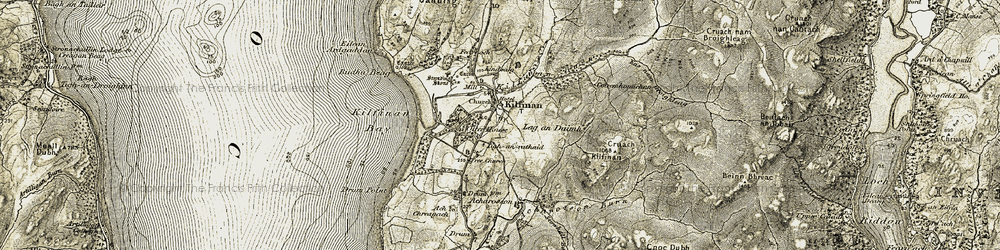 Old map of Ach a' Chòis in 1905-1907
