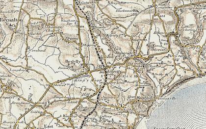 Old map of Kilgetty in 1901