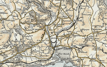 Old map of Kilhallon in 1900