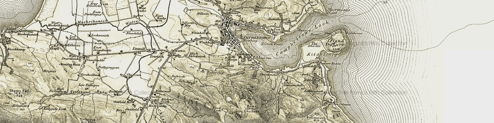 Old map of Tomaig Glen in 1905-1906