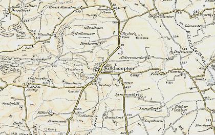 Old map of Kilkhampton in 1900