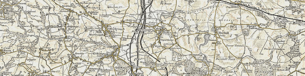 Old map of Killamarsh in 1902-1903