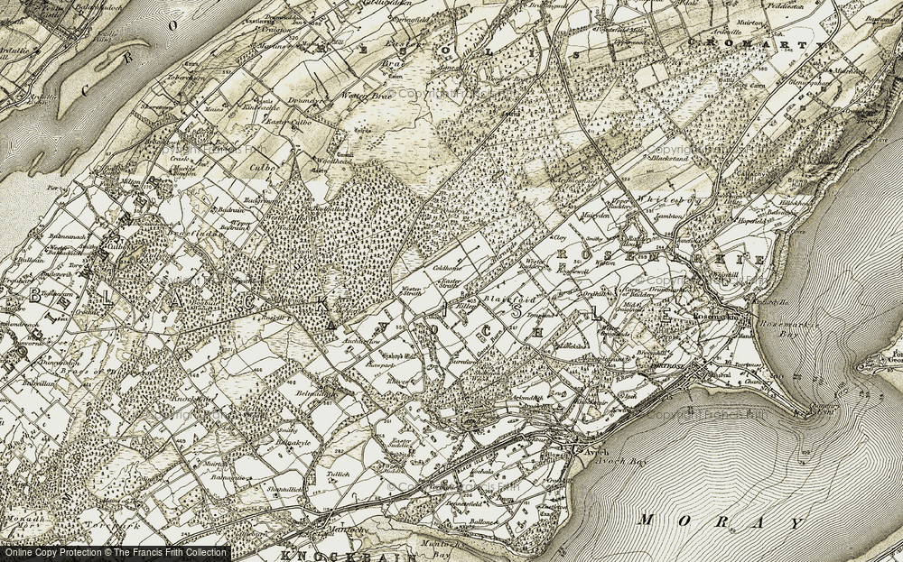 Old Map of Historic Map covering Auchterflow in 1911-1912