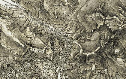 Old map of Killiecrankie in 1907-1908