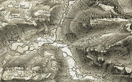 Old map of Allt a' Choire Mhòir in 1908-1909