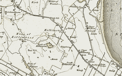 Old map of Westerloch in 1911-1912