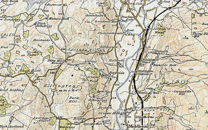 Old map of Killington in 1903-1904