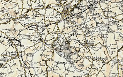 Old map of Killivose in 1900