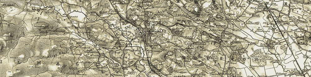 Old map of Yetston in 1905-1906