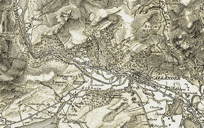 Old map of Pass of Leny in 1906-1907