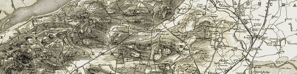 Old map of Wester Kilmany in 1906-1908
