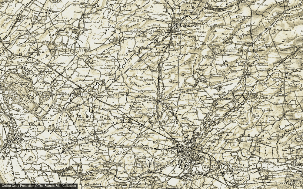 Old Map of Historic Map covering Titwood in 1905-1906
