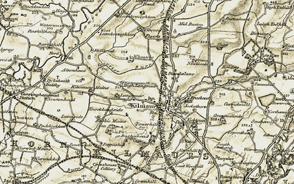 Old map of Kilmaurs in 1905-1906