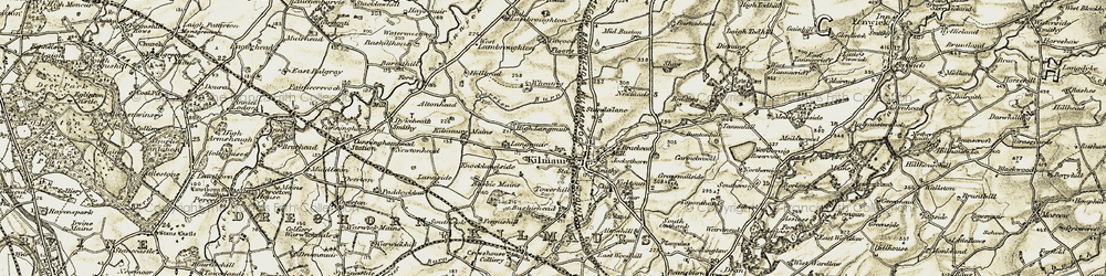 Old map of Titwood in 1905-1906