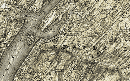 Old map of Bacoch's Seat in 1905-1907
