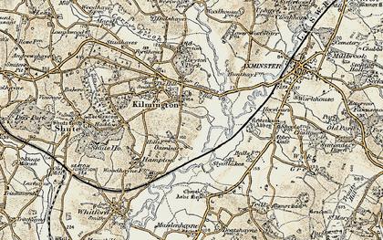 Old map of Kilmington in 1898-1900