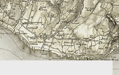 Old map of Leacamor in 1905-1906