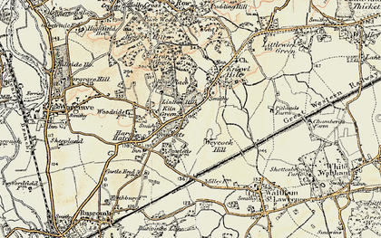 Old map of Linden Hill in 1897-1909
