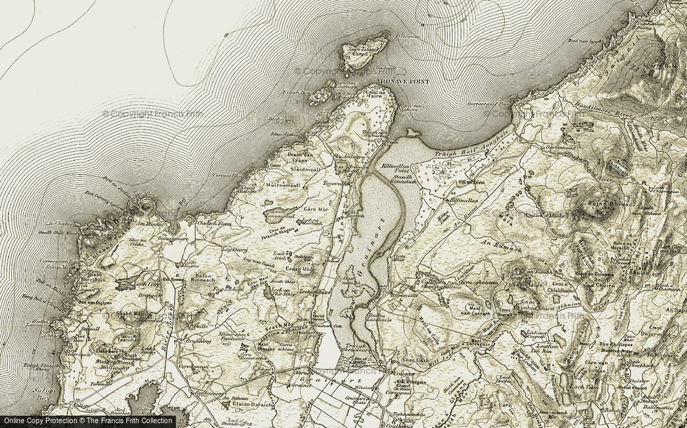 Old Map of Historic Map covering Airigh Ghlas in 1906