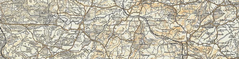 Old map of Kilndown in 1897-1898