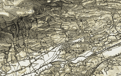 Old map of Allanfauld in 1904-1907