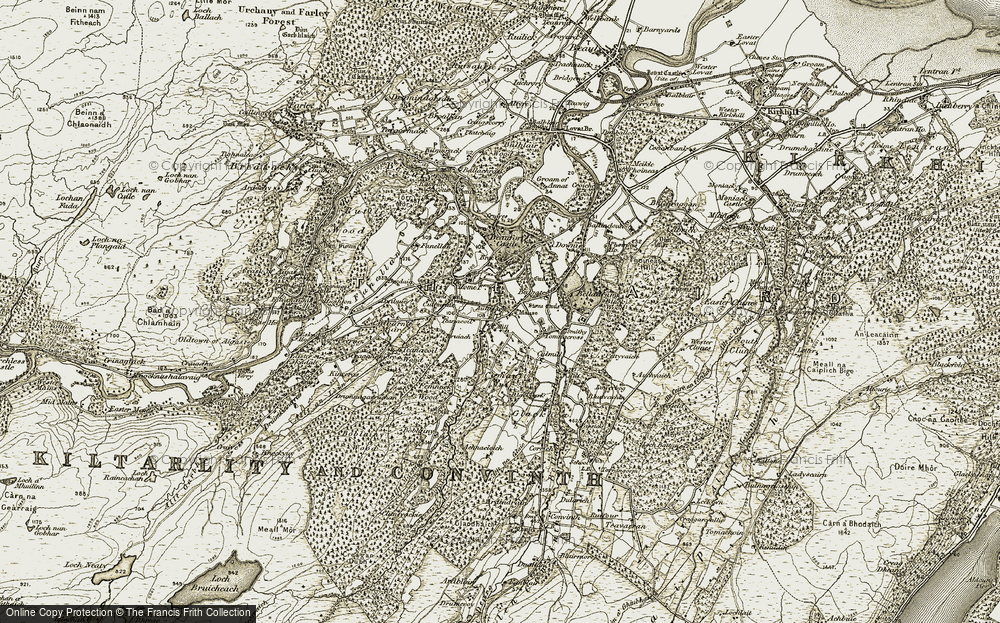 Old Map of Historic Map covering Balgate in 1908-1912